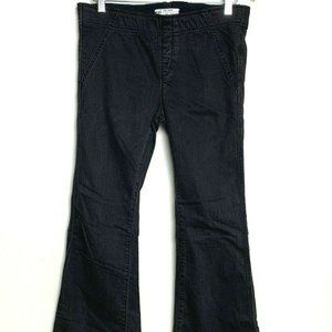 Free People Black Pull On Flare Leg Bell Jeans 30